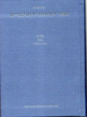 A Concordance of Amoraic Terms, Expressions and Phrases in the Yerushalmi, Vol.1 / Moshe Assis