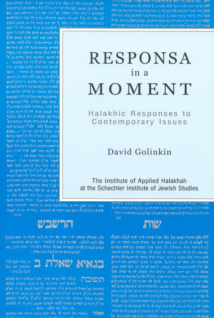 Responsa in a Moment I / David Golinkin